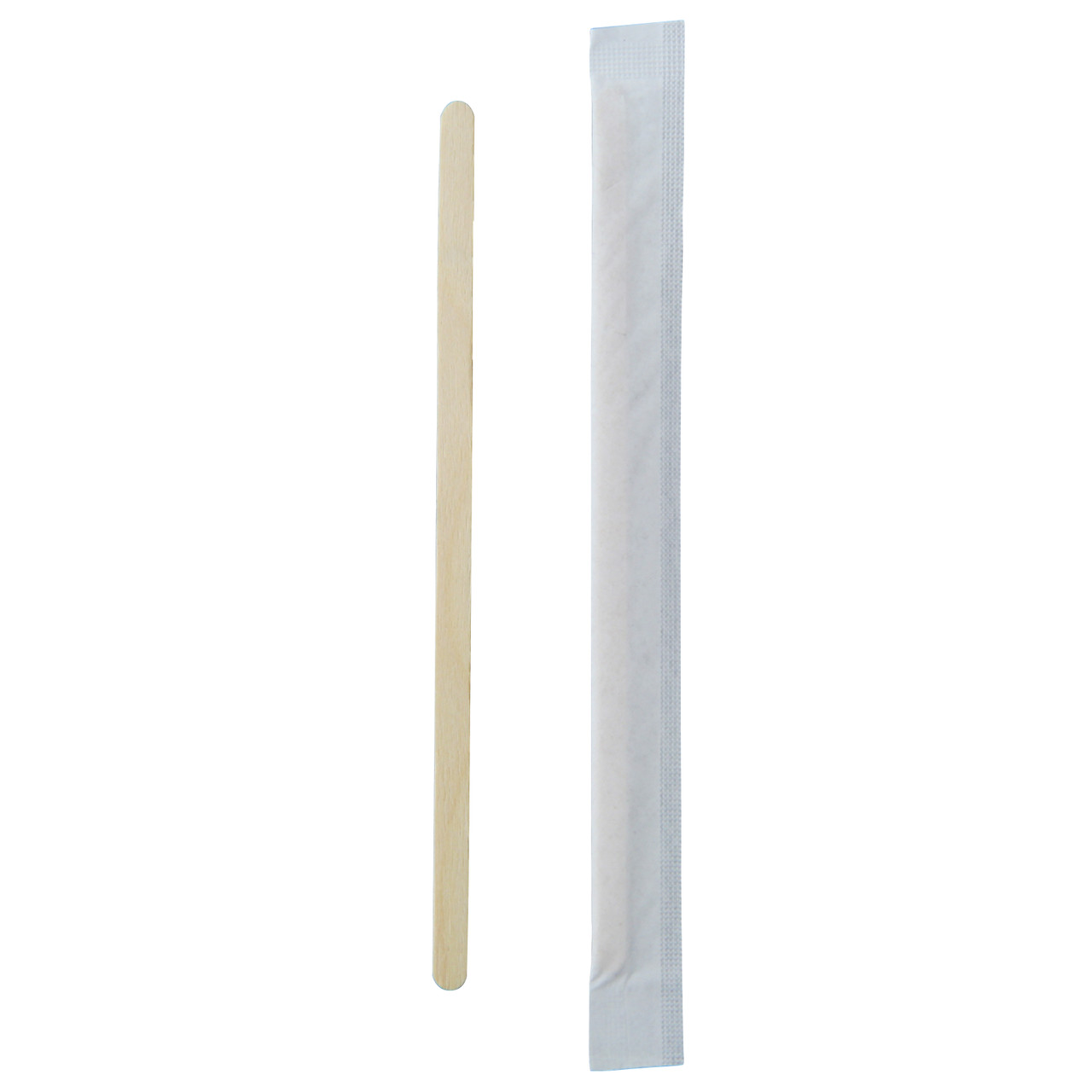 Individually Wrapped Wooden Coffee Stirrers - L:5.5 x W:.2in