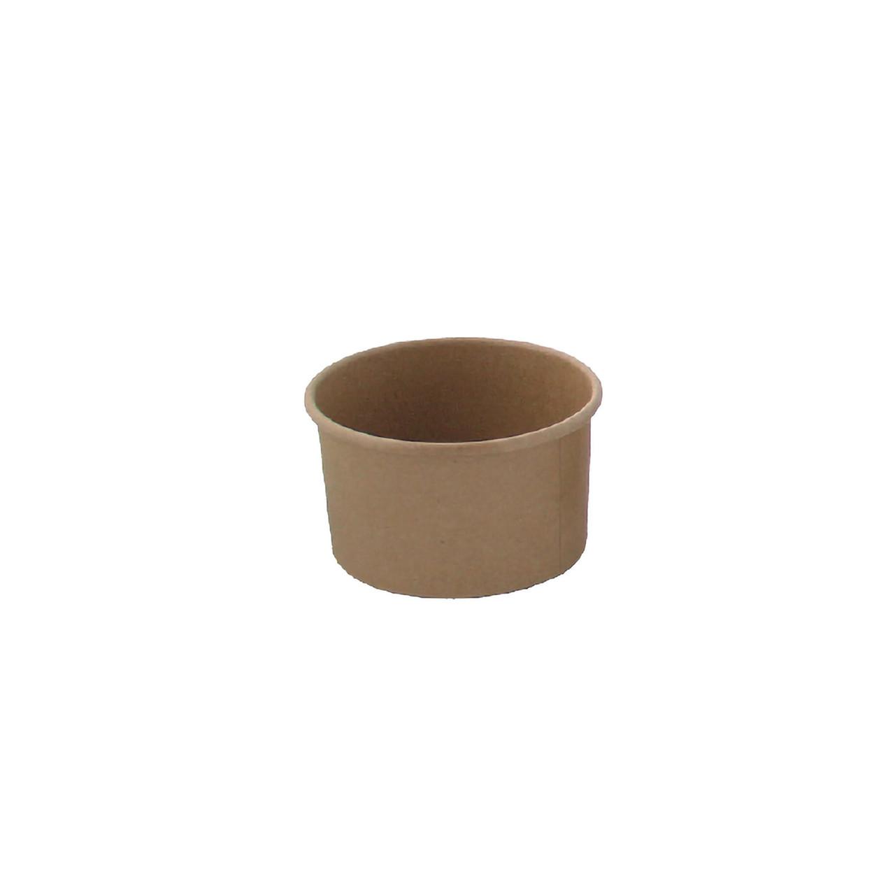 Brown Kraft Hot & Cold Paper Cup -4.2oz Dia:2.9in H:1.95in