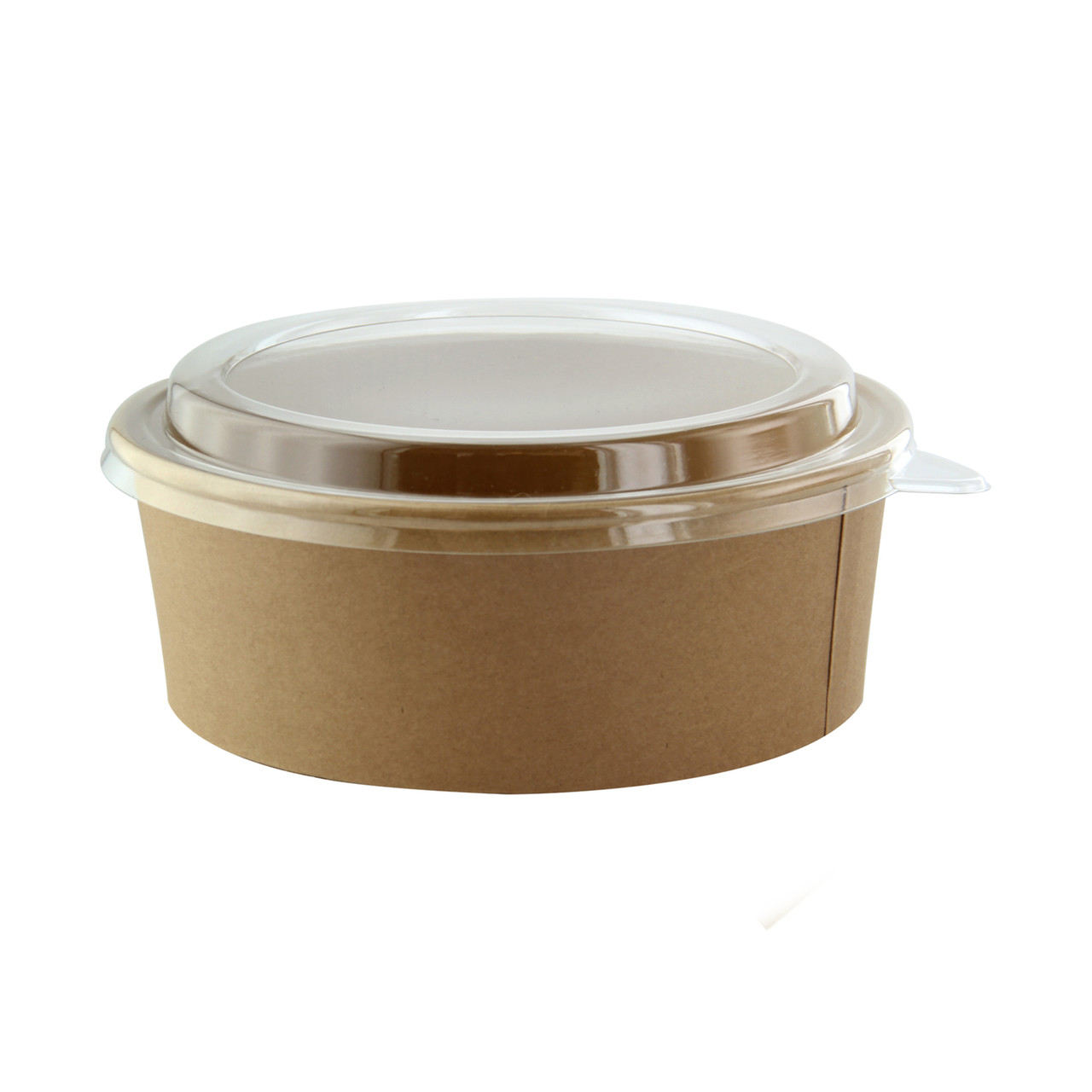 Round Kraft Salad Bucket With Pet Lid Included -40oz Dia:7.2in H:2.7in
