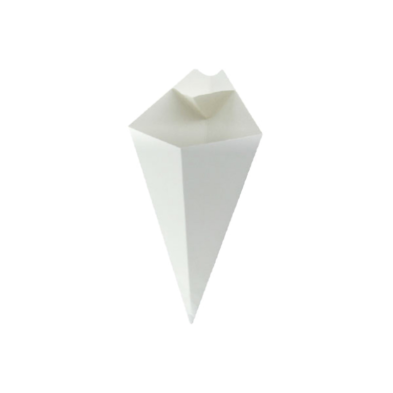 White Paper Cones With Built In Dipping Sauce Compartment -5oz L:7.6 in