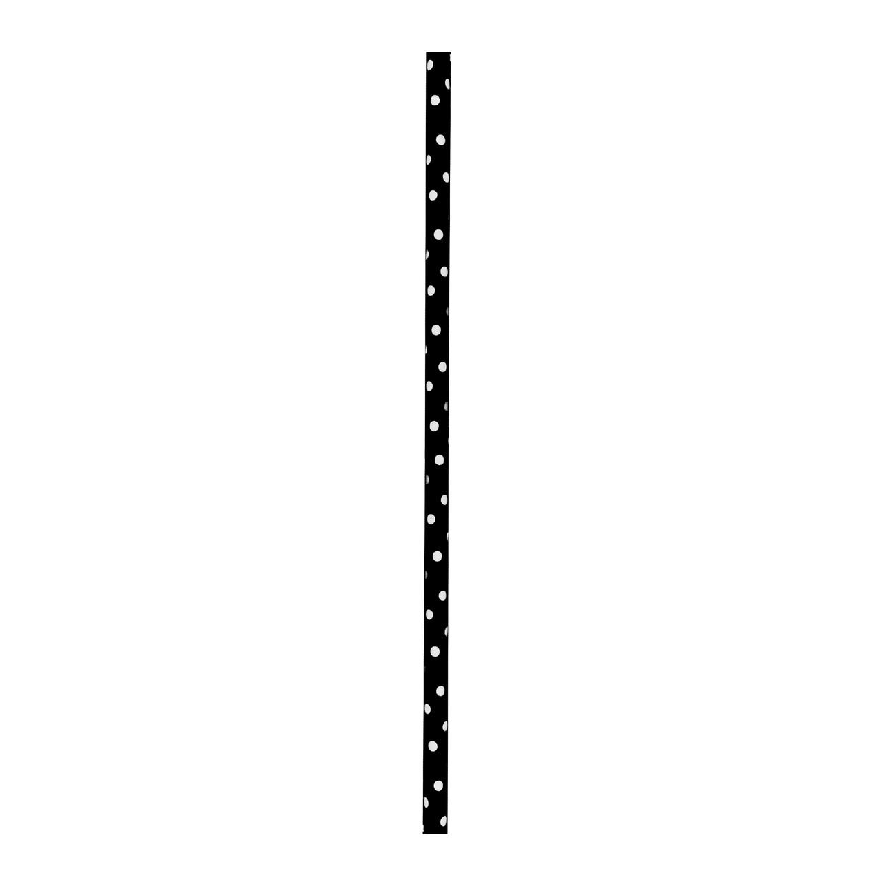 Durable Black & White Paper Straws Unwrapped - Dia:.23in L:7.75in