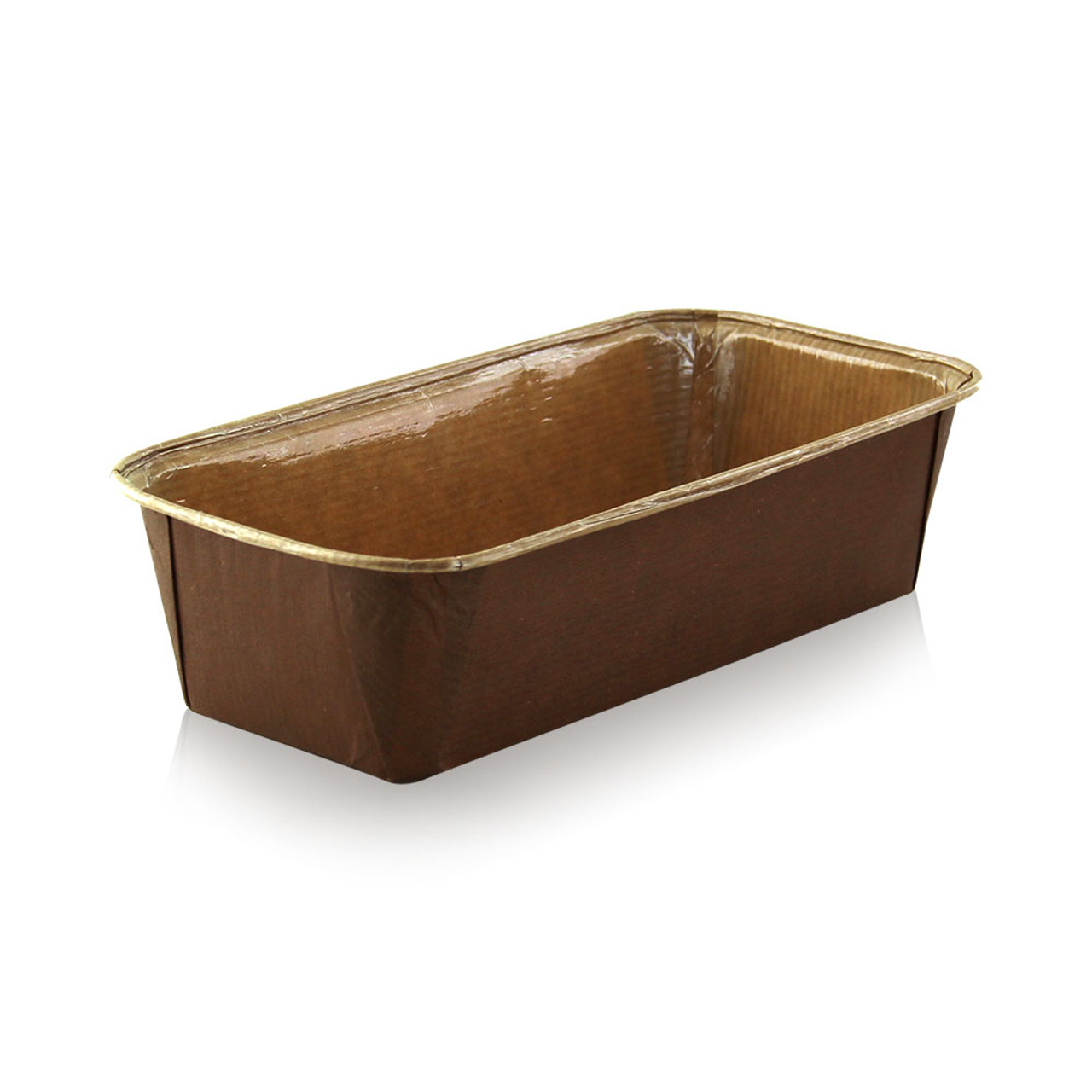 Free Standing Rectangular Kraft Paper Baking Mold -25oz L:6.5 x W:2.6 x H:1.88in