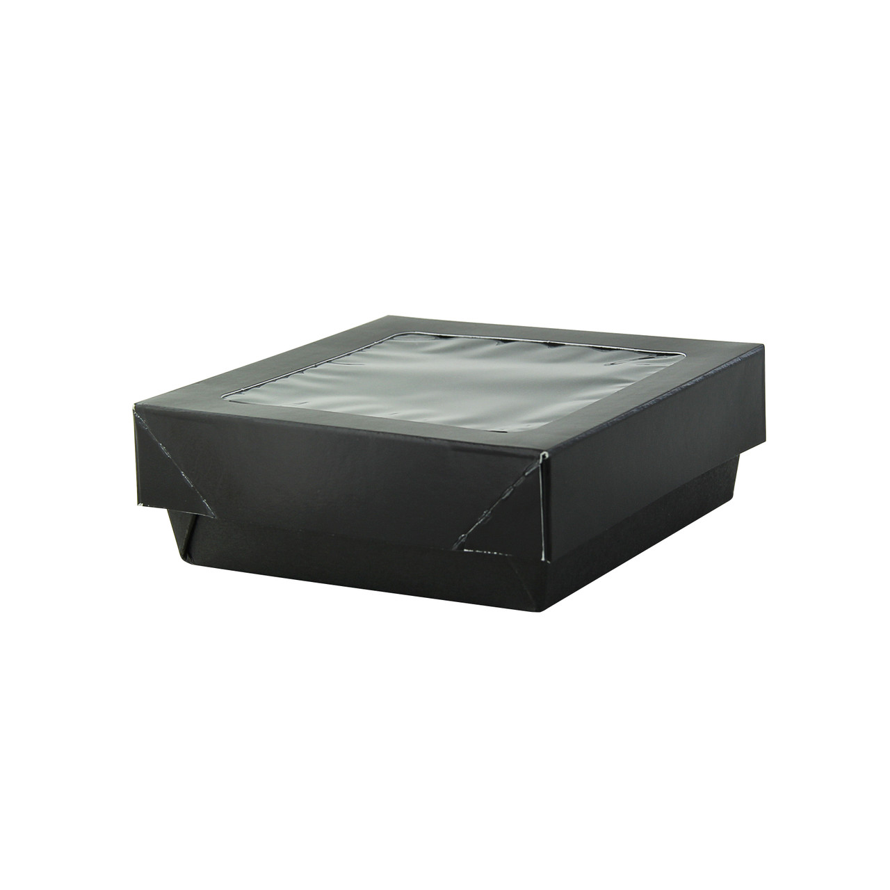 Bakeable Black Kray Box With Pet Lid -12oz L:4 x W:3.95 x H:1.55in