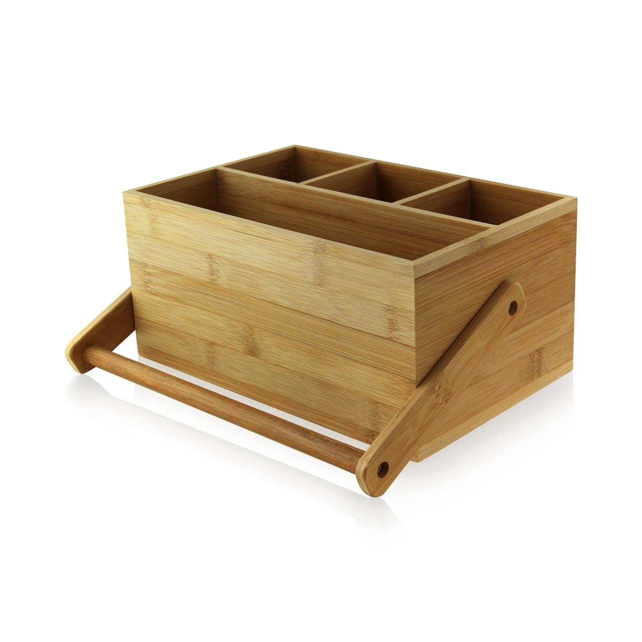 Bamboo Tool Box - L:9 x W:5.9 x H:4.25in