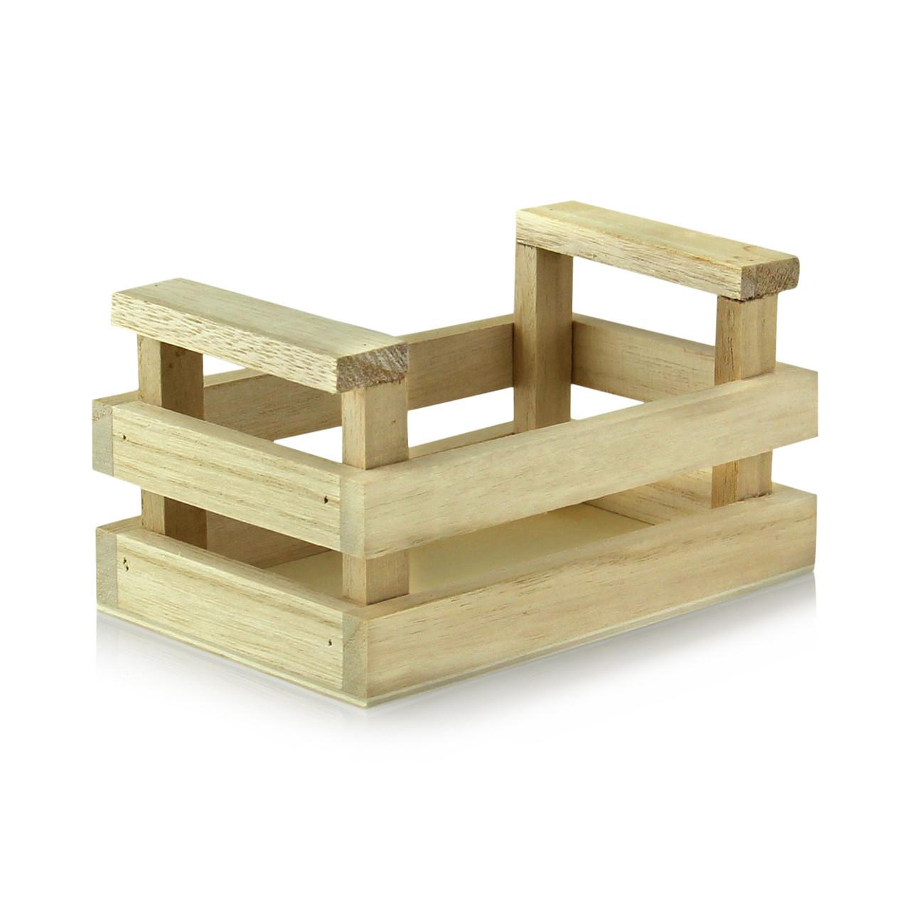 Wood Crate - L:5.25 x W:3.3 x H:2.8in