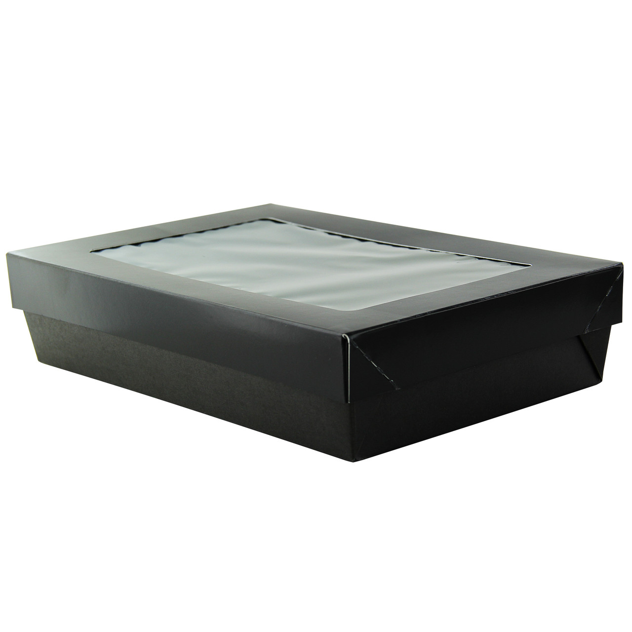 Order A Sample - Bakeable Black Kray Box With Pet Lid -12oz L:9.25 x W:5.5 x H:1.9in