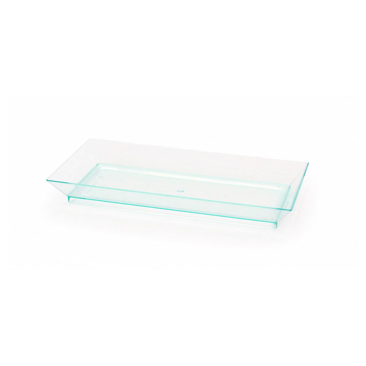 Klarity Rectangular Transparent Green Dish - L:5.1 x W:2.5 x H:.61in