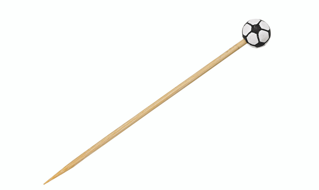 Bamboo Soccer Skewers - L:4.8in