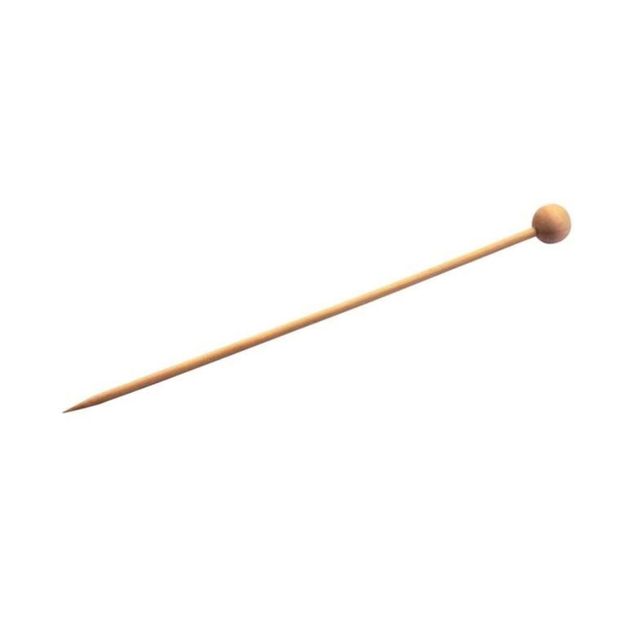Bambi Natural Bamboo Ball Skewers - L:5.45in