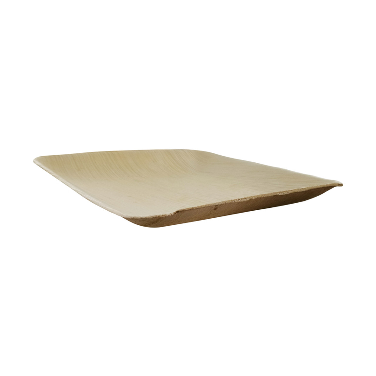 Square Palm Leaf Dinner Plate - L:6.3 x W:6.3 x H:.6in