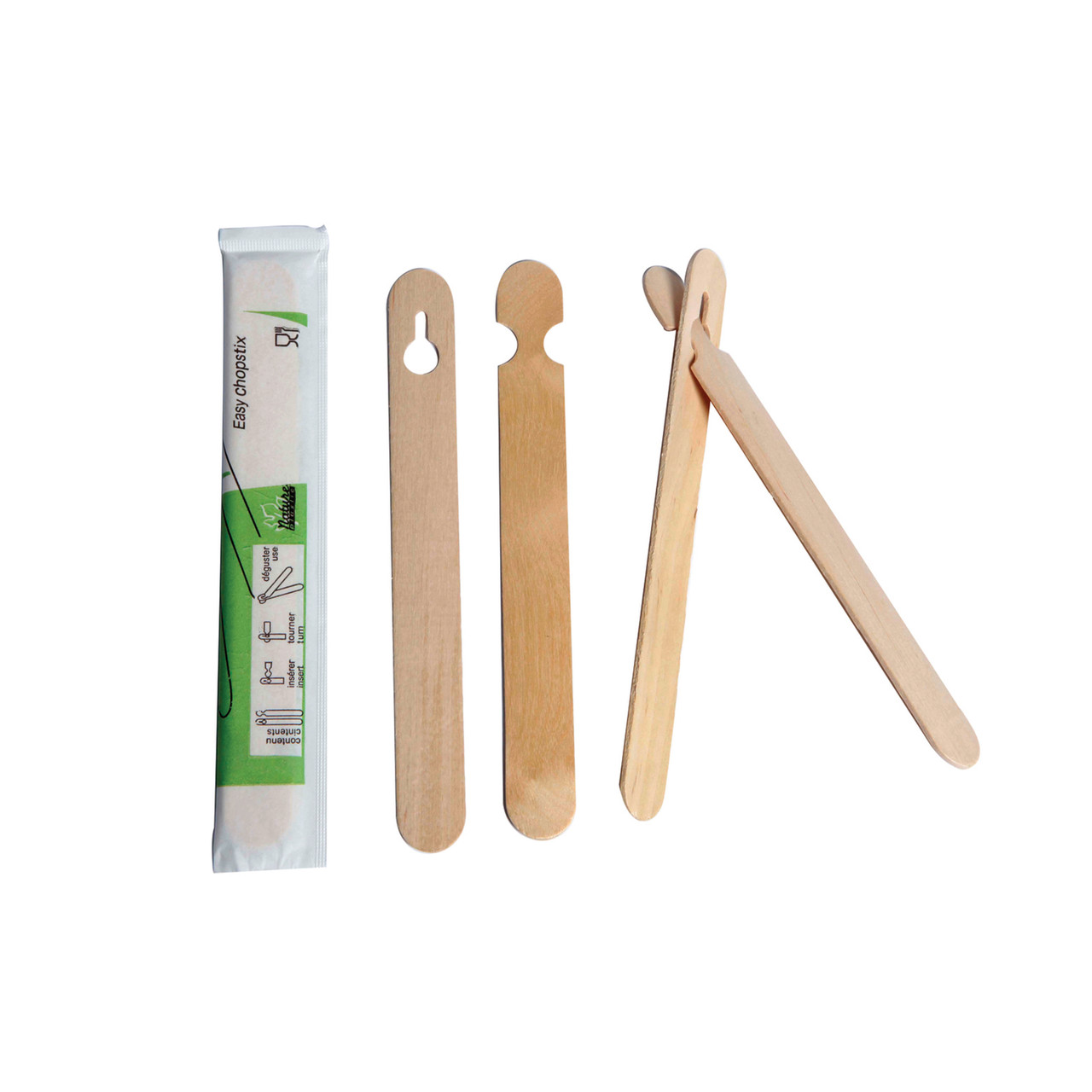 Easy Wooden Chopsticks Wrapped By Pair - L:5.9 x W:.64in