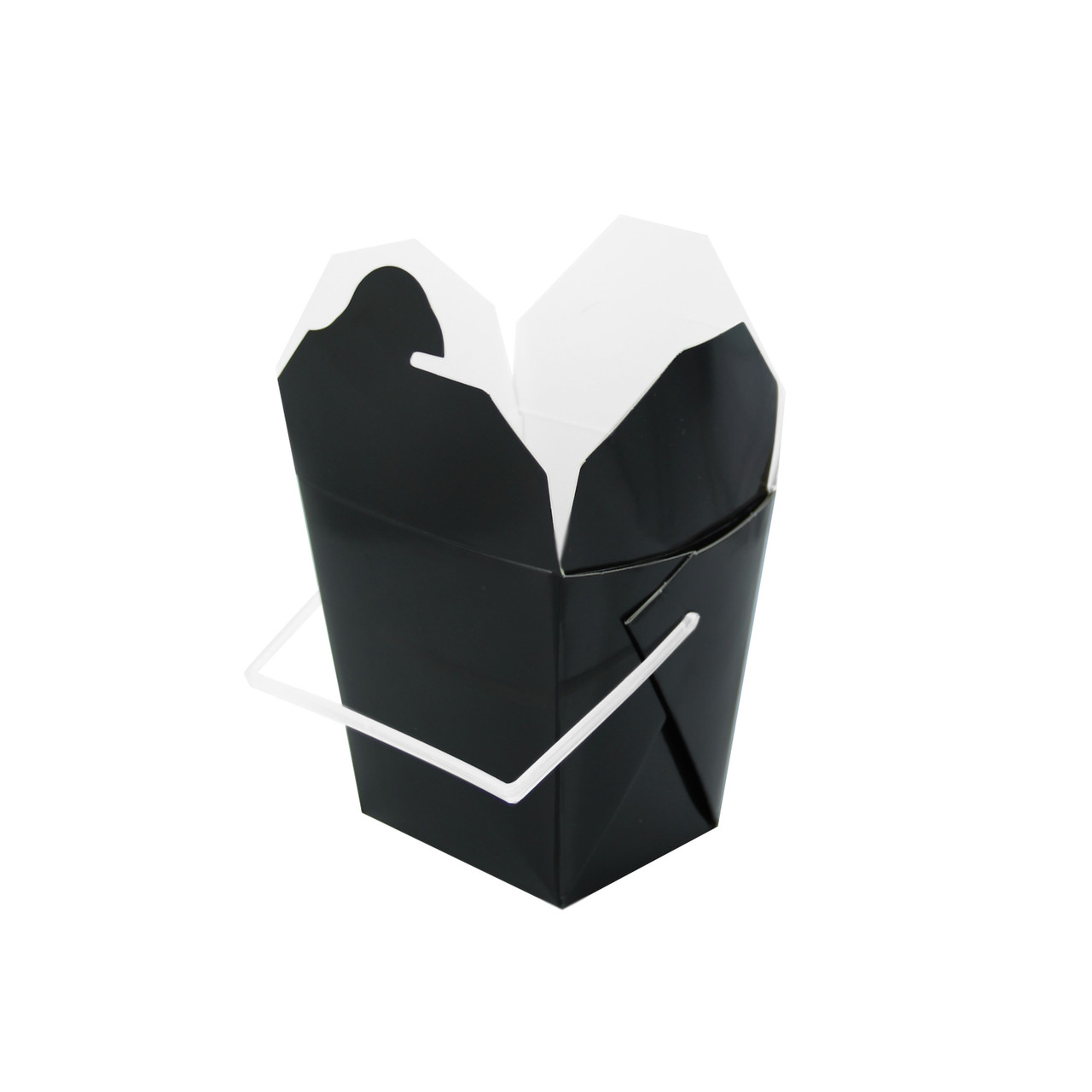 Black Take Out Box With Handle -16oz L:3.55 x W:2.8 x H:3.55in