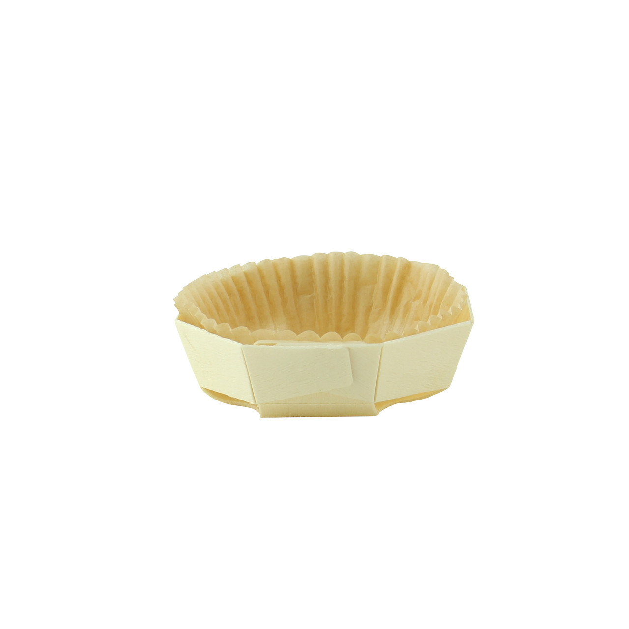 Round Baking Mold With Liner - L:4.4 x W:4 x H:1.2in