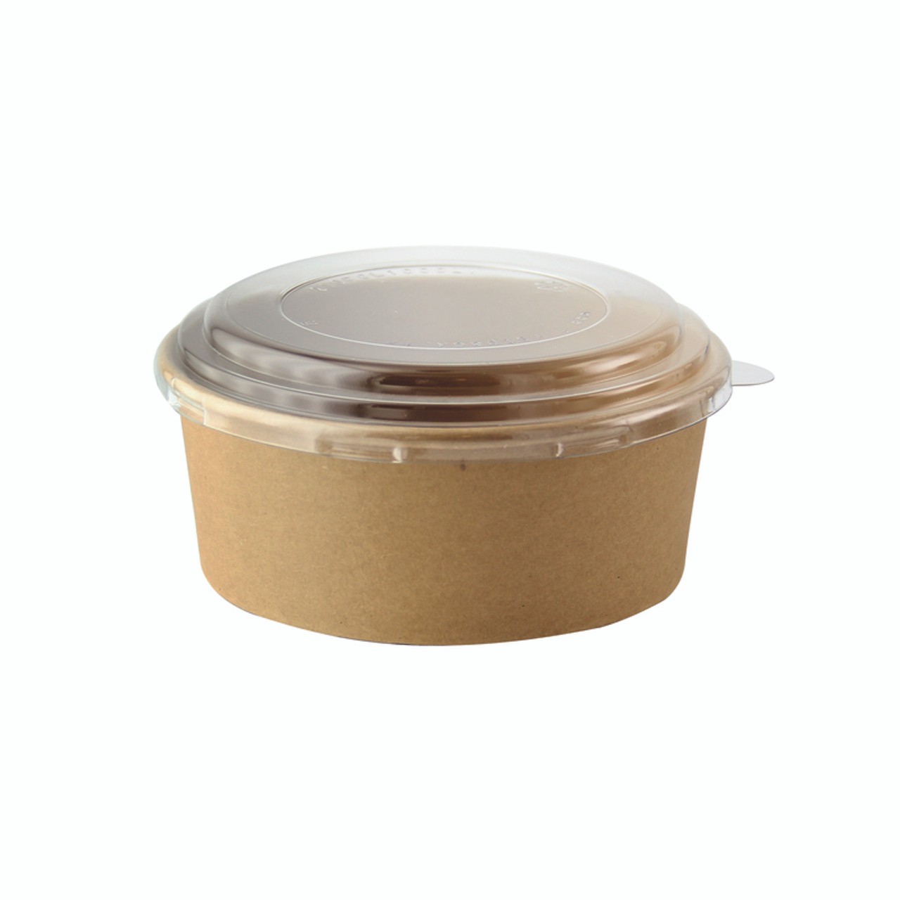 Round Kraft To Go Container -16oz Dia:5.8in H:1.75in