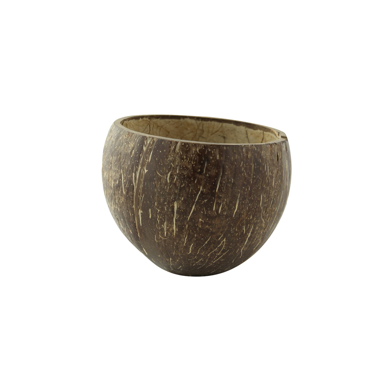 Round Coconut Bowl Without Polished -11.8-17oz Dia:3.4in H:2.85in