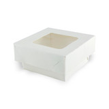 White Kray Boxes With Pet Window Lid -7oz L:2.75 x W:2.75 x H:1.5in