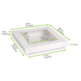 White Kray Boxes With Pet Window Lid -60oz L:7.5 x W:7.5 x H:2in