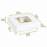 White Kray Boxes With Pet Window Lid -12oz L:4 x W:3.95 x H:1.55in