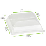 Clear PET Lid for 210BCHIC1111 - L:4.35 x W:4.35 x H:1.35in