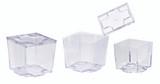 Kara Clear Cubic Mini Dish -2.75oz L:2.05 x W:2.05 x H:1.9in