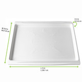 White Sugarcane Tray Atlas 1/1 Engraved With Famous World Monuments - L:15 x W:10.8in