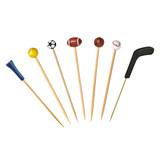 Bamboo Football Skewers - L:4.7in