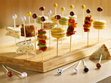 Bamboo Golf Tee Skewers (Assorted Colors) - L:4.75in