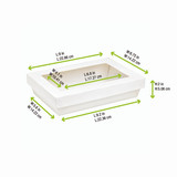 Rectangular White Kray Boxes With Pet Window Lid -50oz L:9.2 x W:5.6 x H:2in