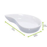 Yin Mini Porcelain Dish -0.5oz L:3.1 x W:1.85 x H:.56in