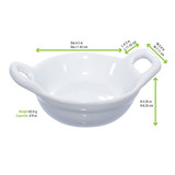 Mini Porcelain Casserole Dish -1oz Dia:2.42in H:.85in