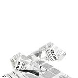 Greaseproof Paper Cones Newspaper Printed -20oz L:8.7 in.