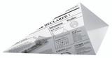 Sturdy Paper Cones With Newspaper Print -14.5oz L:7.7 in