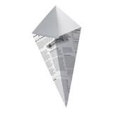 Sturdy Paper Cones With Newspaper Print -11oz L:6.9 in