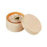 Round Wooden Box With Lid -3oz Dia:2.5in H:1.7in