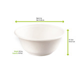 White Sugarcane Bowl -12oz Dia:5.3in H:1.8in