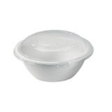 White Sugarcane Salad Bowl -50oz Dia:9.5in H:3.3in