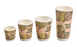 Double Wall Compostable Paper Cup -16oz Dia:3.55in H:5.35in