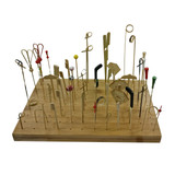 Bamboo Top Twisted Skewers - H:3.7in