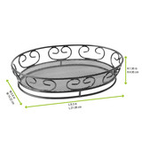 Black Steel Bread Basket - L:9.15 x W:6.2 x H:1.95in