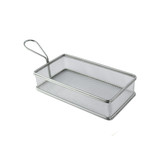 Rectangular Stainless Steel Serving Fry Basket -32oz L:8.7 x W:4.65 x H:2in