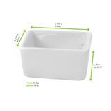 Mini White Cubic Bowl -2oz L:1.97 x W:1.97 x H:.95in