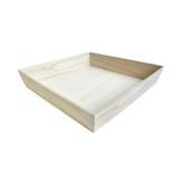 NOAH32H Heavy Duty Wooden Tray - L:12.5 x W:12.5 x H:2.8in