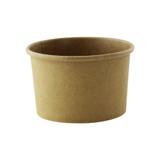 Brown Kraft Soup Cup (Lid Optional) -8oz Dia:3.5in H:2.2in