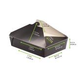 Black Meal Box -78oz L:8.9 x W:6.55 x H:3.5in