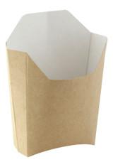Small Kraft French Fry Pails - L:4.7 x W:3.7 x H:4.9in