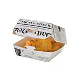 Newspaper Print Mini Slider Box -4oz L:3.3 x W:3.3 x H:2in