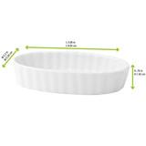 Mini White Porcelain Oval Dish -2oz L:3.88 x W:2.2 x H:.76in