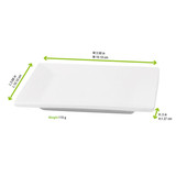 Mini White Square Dish - L:3.98 x W:3.98 x H:.5in