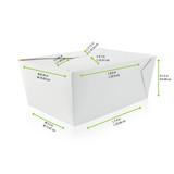 White Meal Box -78oz L:8.9 x W:6.55 x H:3.5in