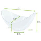 Eos Transparent Mini Tasting Dish -2oz Top:L:3.5 x W:2.75 x H:1.8in